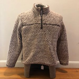 Cuddly sherpa quarter zip pullover kids size 14/16